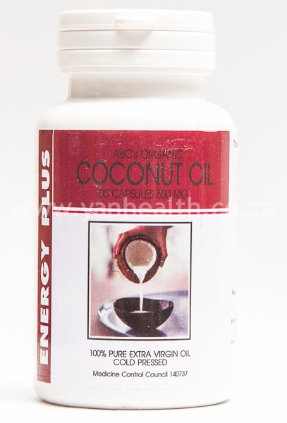 ABCs Organic Coconut Oil 100 Capsules 500mg