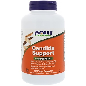 now Candida Support Intestinal Health 180 Veg Capsules