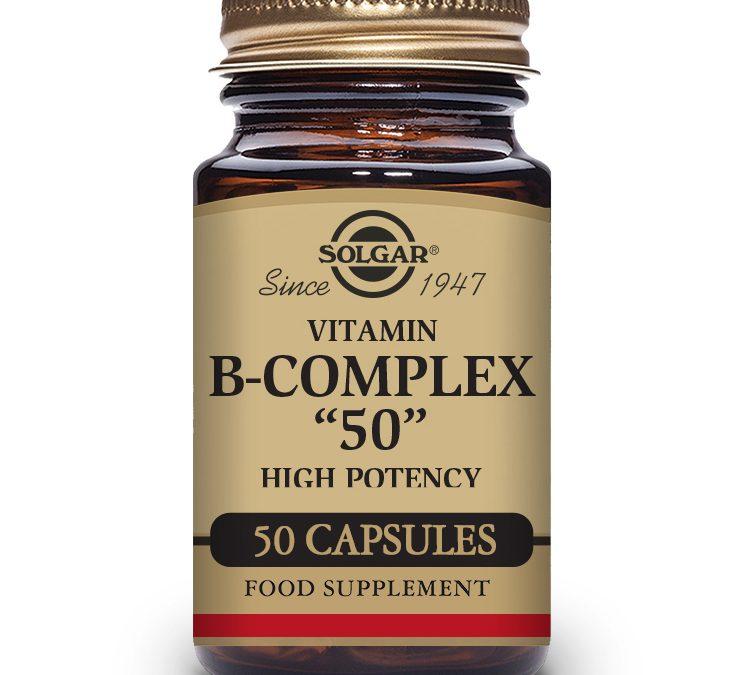 """Solgar Vitamin B-Complex """"50"""" 50 Capsules"""
