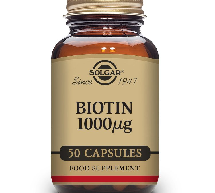 Solgar Biotin 1000 μg Vegetable Capsules – Pack of 50