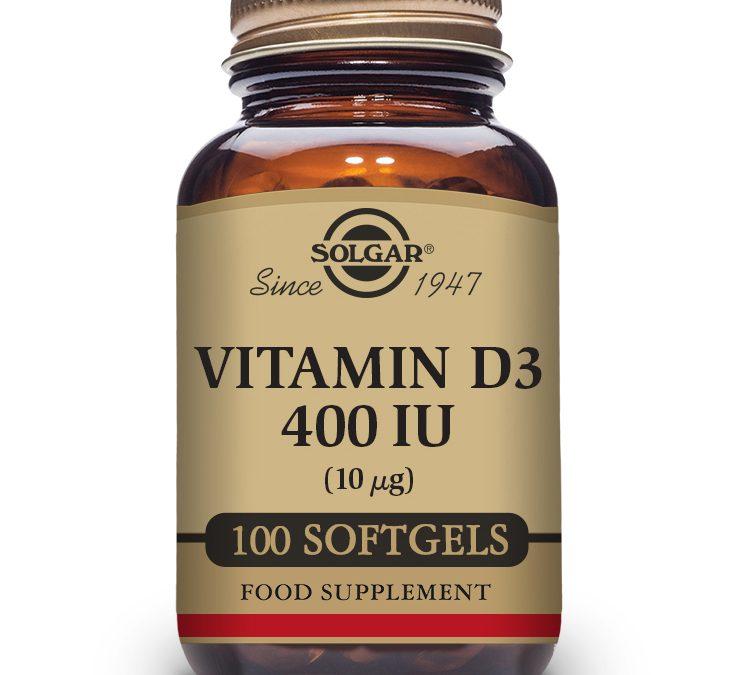 Solgar Vitamin D3 100 Softgels 400 iu