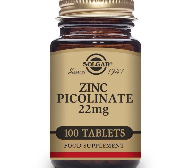 Solgar Zinc Picolinate 100 Tablets 22 mg