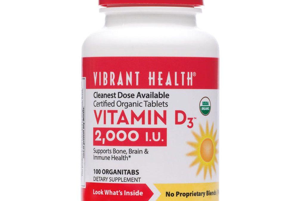 Vibrant Health Vitamin D3 100 Tablets 2000 iu