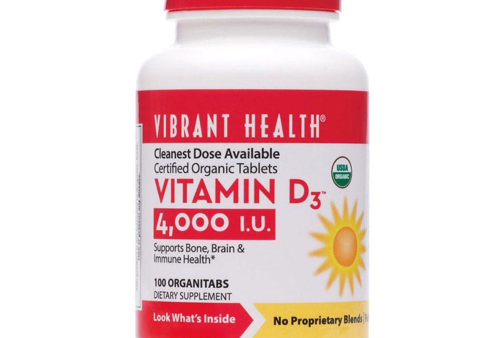 Vibrant Health Vitamin D3 100 Tablets 4000 iu