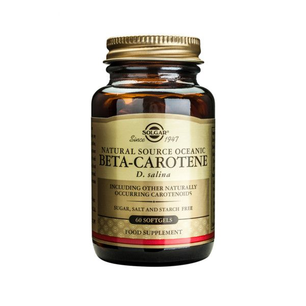 Solgar Beta-Carotene 60 softgels