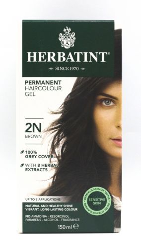 Herbatint permanent hair colour gel – 2N brown 150ml
