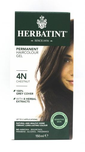 Herbatint permanent hair colour gel – 4N chestnut 150ml
