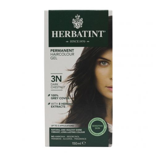 Herbatint permanent hair colour gel – 3N dark chestnut 150ml
