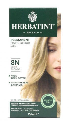 Herbatint permanent hair colour gel – 8N light blonde 150ml