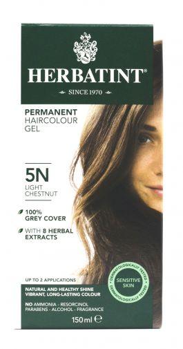 Herbatint permanent hair colour gel – 5N light chestnut 150ml