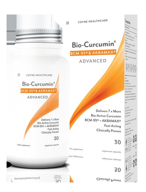 Coyne Bio curcumin BCM-& AKBAMAX ADVANCE 30 vegetable capsules