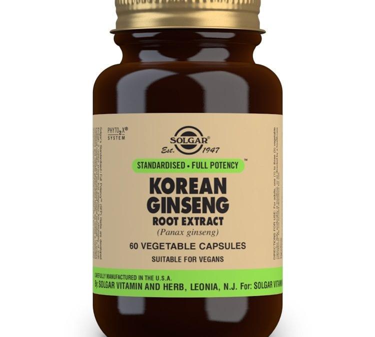 Solgar Korean Ginseng Root Extract 60 Capsules