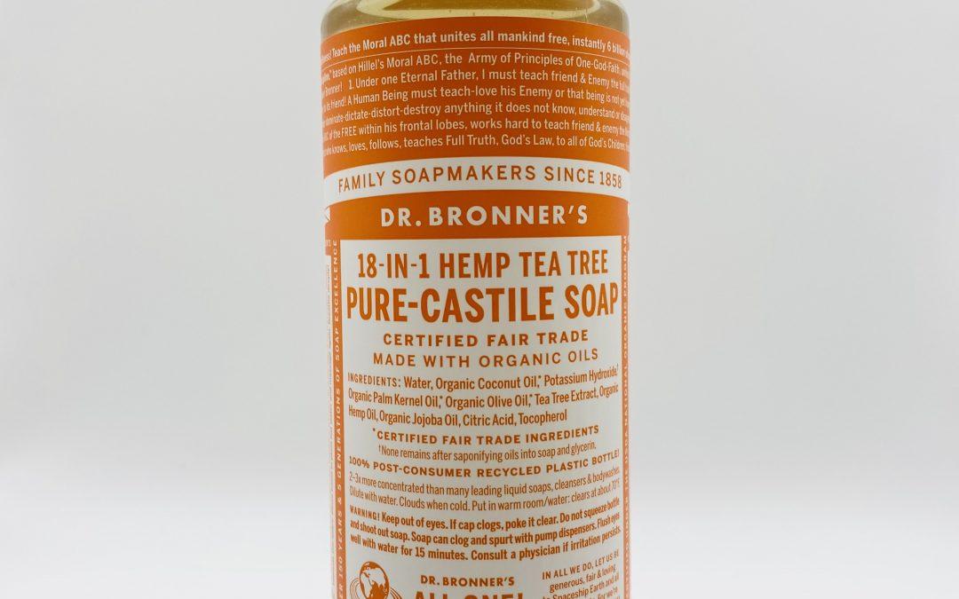 Dr. Bronner's Pure Castile Liquid Soap – Tea Tree